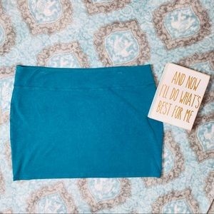 American Eagle Teal Mini Skirt